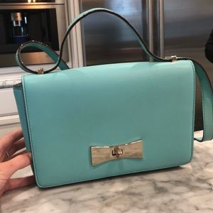 Teal Kate Spade Box Purse